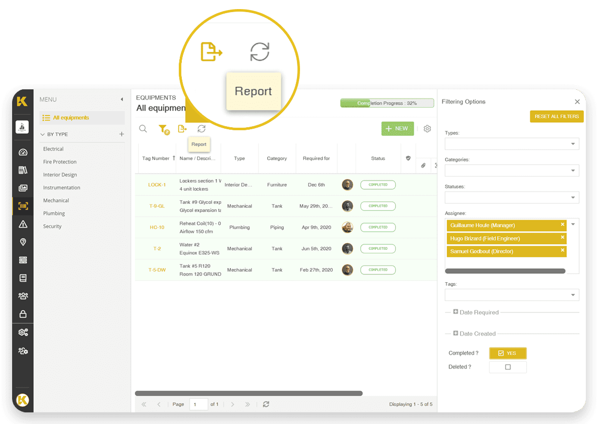 Generate reports and share them